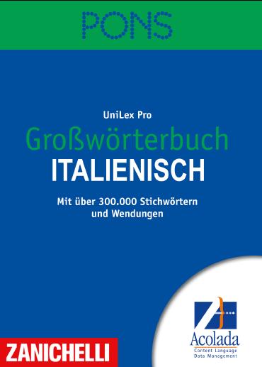 PONS Unabridged Italian Dictionary Cover